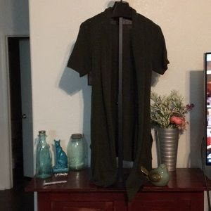 Lane Bryant Plus Size Olive Green Duster 14/16